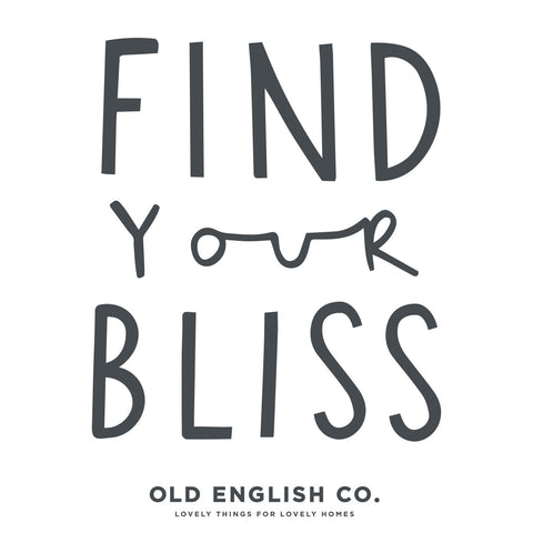 Find your bliss typography quote