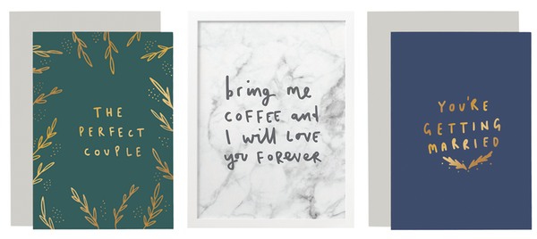 Hand lettered stationery trends