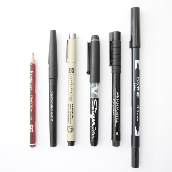 hand lettering pens and brushes