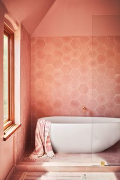 Living Coral Bathroom Interior