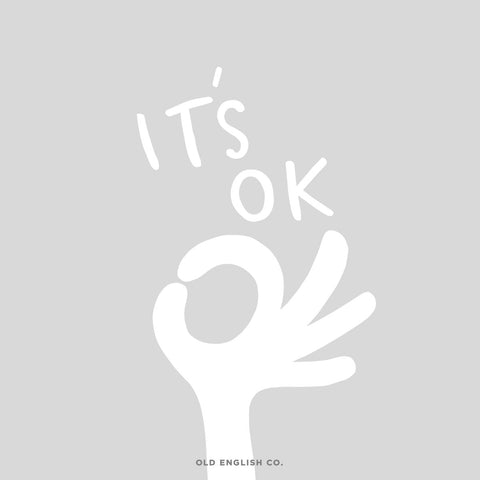 It's all ok illustrated positive motivational quote