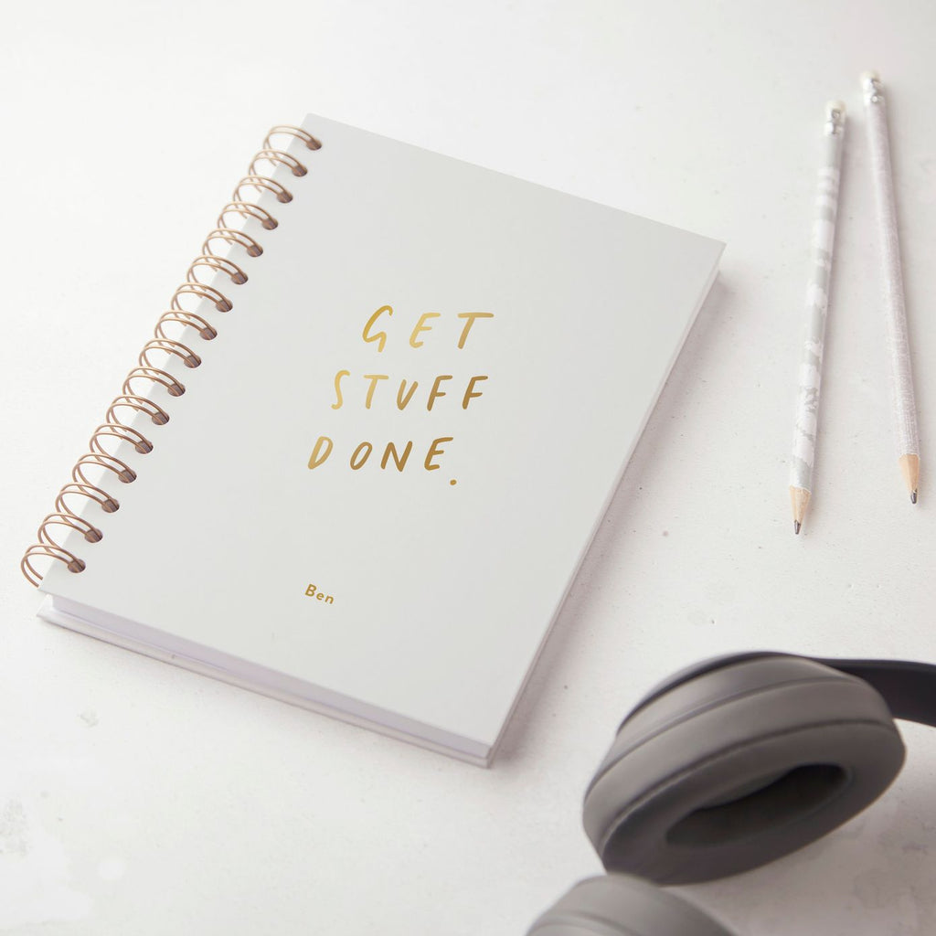 Get Stuff Done Hardback Notebook