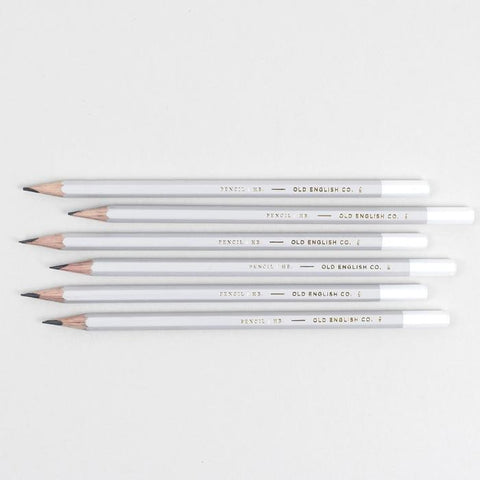 Old English Company's Grey and White Pencil Set
