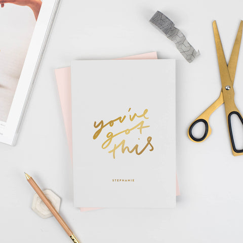 You've Got This Grey Foiled Notebook