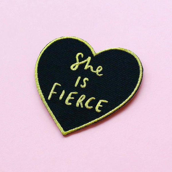 She is Fierce Embroidered Patch