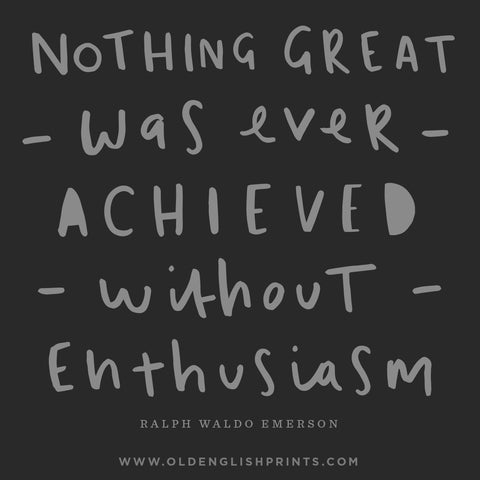 ralph waldo emerson typography quote