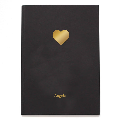 Heart Icon Personalised Notebook