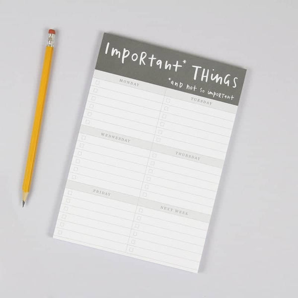 important things A5 notepad