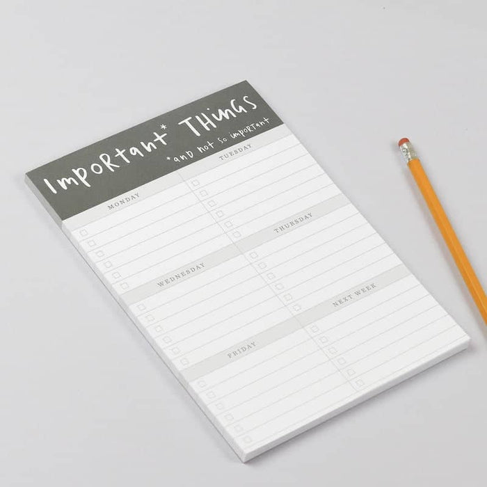 important things notepad