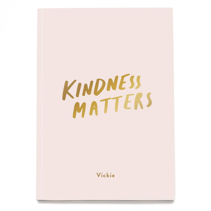 Kindness Matters Personalised Foil Notebook