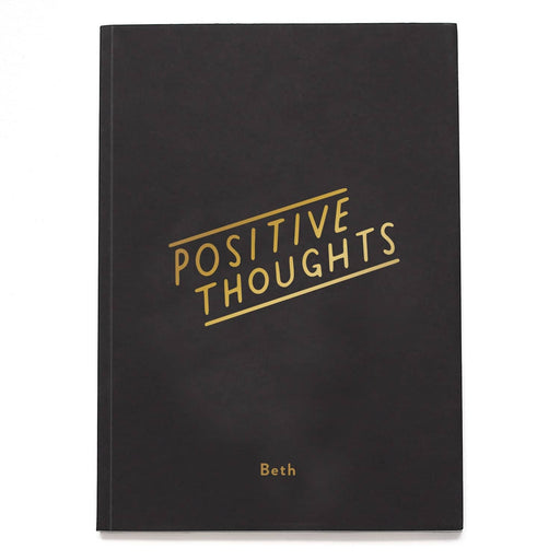 positive thoughts notebook