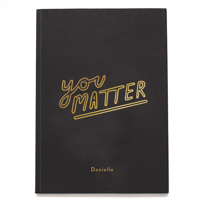 You Matter Personalised Foil Notebook
