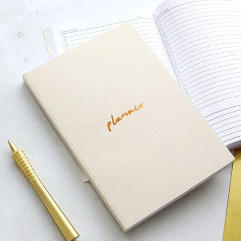 Off White and Copper A5 Planner