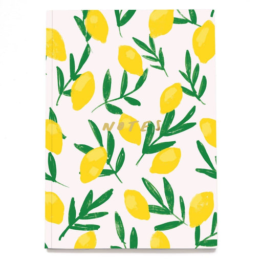 Lemon Linen Notebook - A5NB12