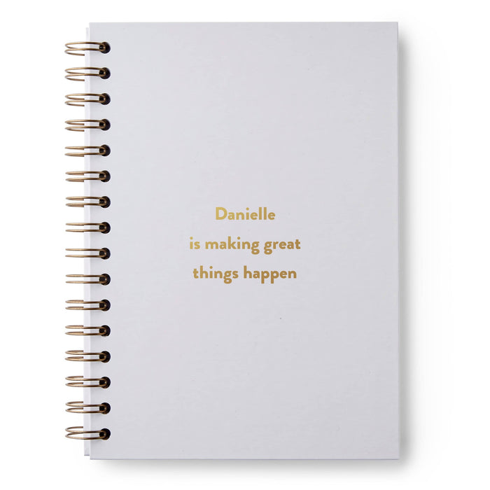 Any Text Here Hardback Notebook