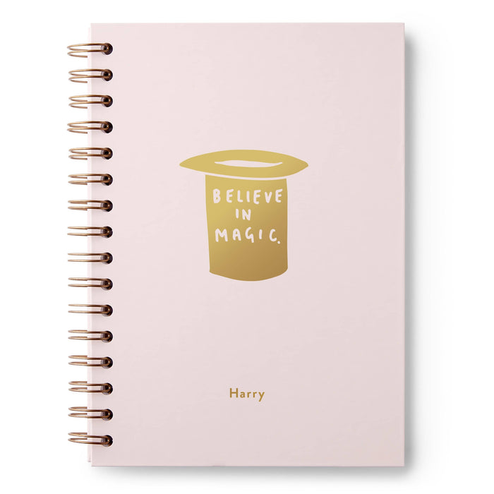 Believe in Magic Hat Hardback Notebook