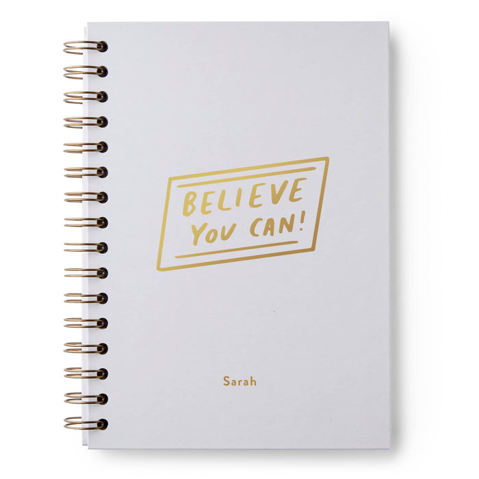 Believe You Can Rectangle Outline Hardback Notebook
