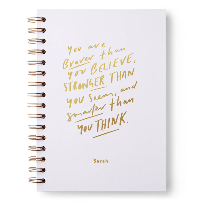 Braver Than You Believe Hardback Notebook