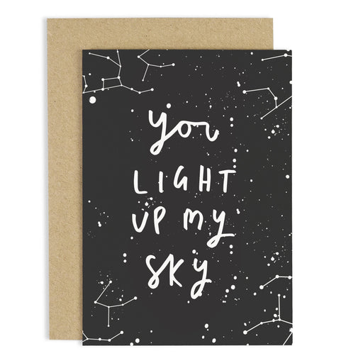 Light up my sky love card