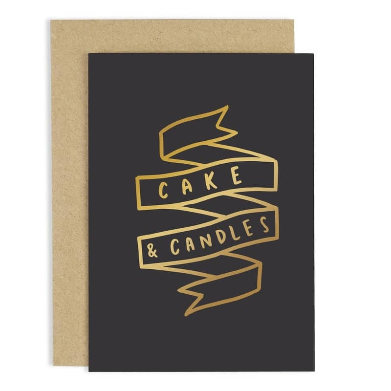 cake and candles birthday card