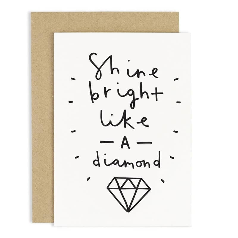 shine like a diamond card