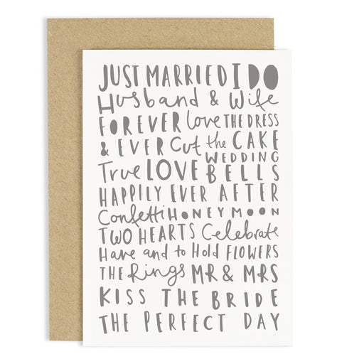 Wedding Words Card