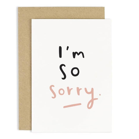 So Sorry Card