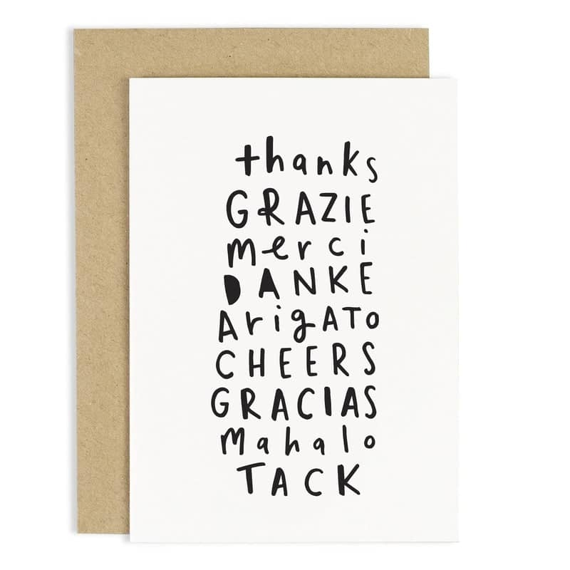 thank you languages card