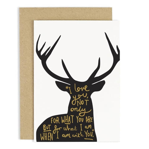 Deer Love Poem Card