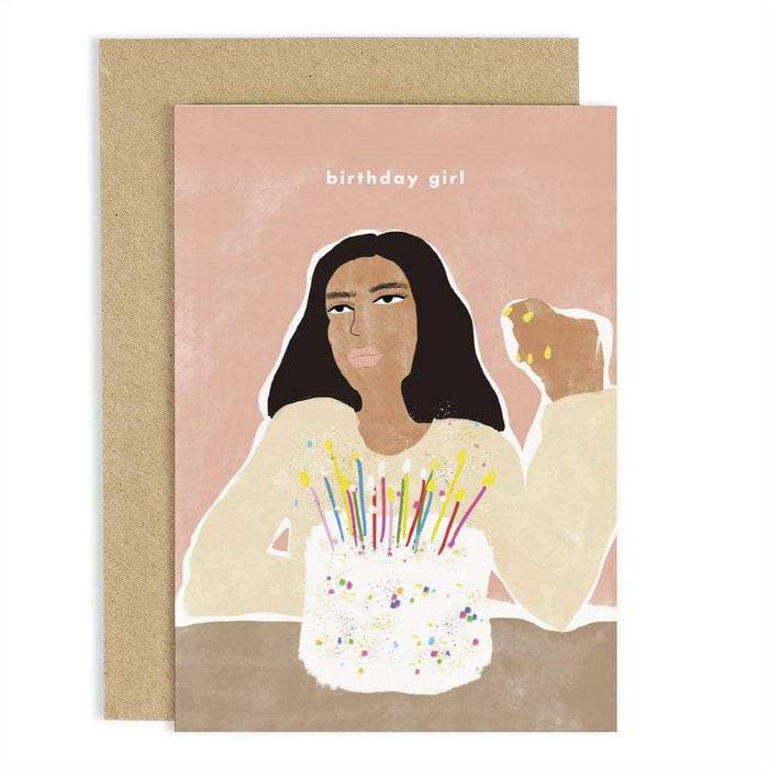 CCAH06 Birthday Girl Cake Card