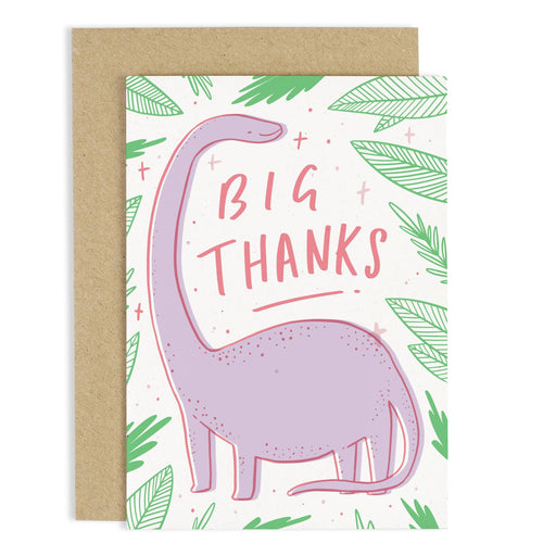 Big Thanks Dinosaur Card