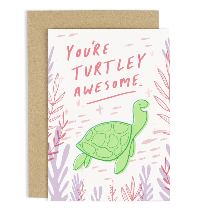 Turtley Awesome Greeting Card