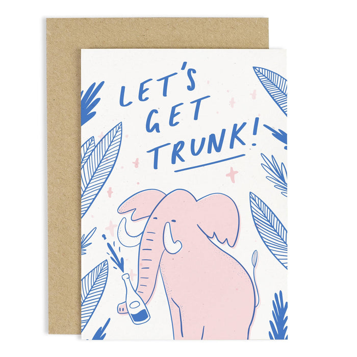 Let's Get Trunk Elephant Card