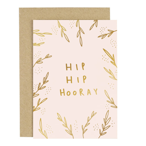 Hip Hip Hooray Blush Pink Greeting Card