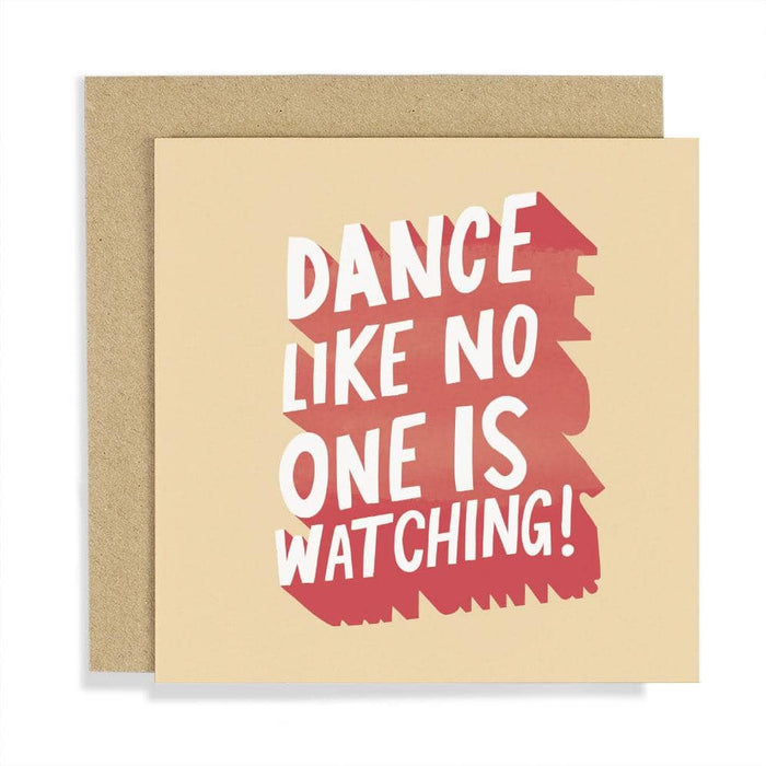 CCBT10 Dance like no one is watching card