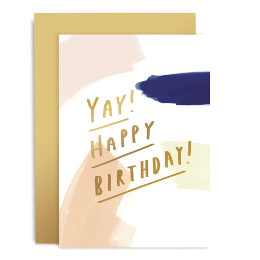 Yay Birthday Brushworks Card
