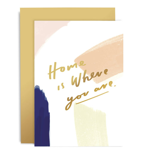 Home Is Where You Are Brushwork Card