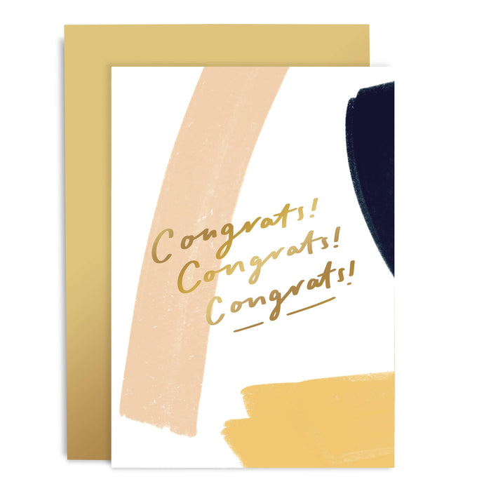 Congrats Brushwork Greeting Card