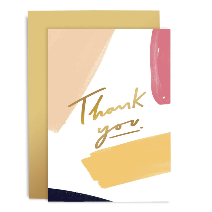 Thank You Brushworks Greeting Card