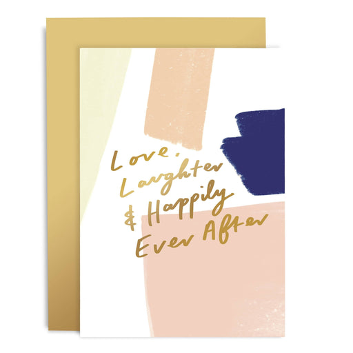 Love Laughter Happily Ever After Brushworks Card