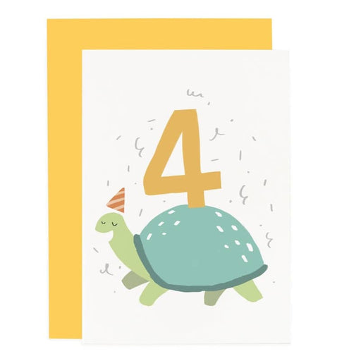 tortoise 4th birthday card