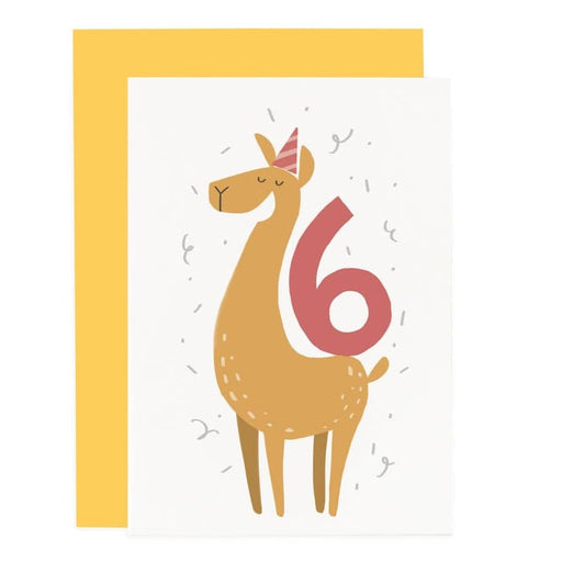 LAMA 6TH BIRTHDAY CARD