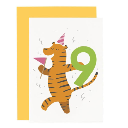 tiger 9th birthday card