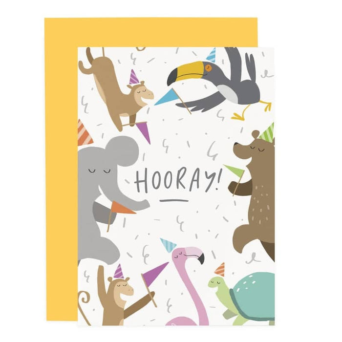 hooray party animal child's card