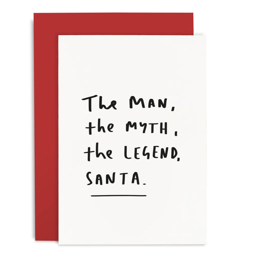 The Legend Santa Christmas Card