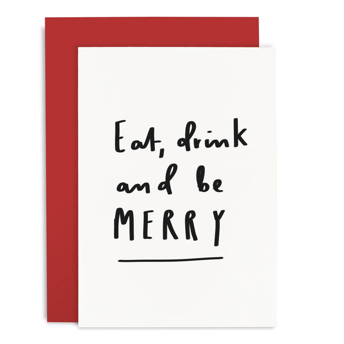 Eat Drink Be Merry Christmas Card