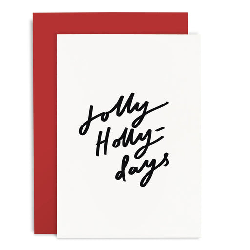 Jolly Holly Days Christmas Card