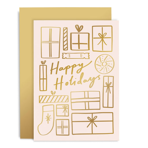 Happy Holidays Gifts Christmas Card
