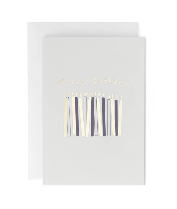 Happy Birthday Small Candles Greeting Card