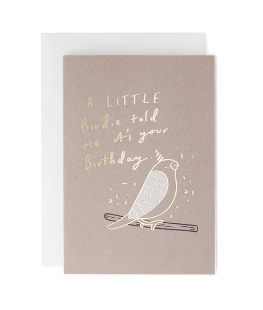 Birthday Birdie Greeting Card